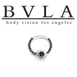 BVLA Rose Dahlia 14kt Gold Septum Ring 14g Body Vision Los Angeles