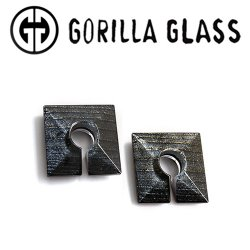"Gorilla Glass Iridescent Square 0.4oz Ear Weights 3/4"" And Up (Pair)"