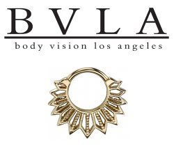 BVLA Starr 14kt Gold Septum Ring 16g Body Vision Los Angeles