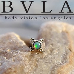 "BVLA 14kt Gold Mini Kandy Threadless End 18g 16g 14g ""Press-fit"""