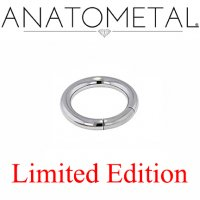 "Anatometal Surgical Steel 9/16"" Segment Ring 8 Gauge 8g Limited Edition"