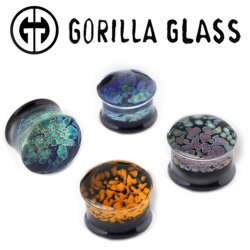 "Gorilla Glass Zoa Double Flare Plugs 0 Gauge to 1"" (Pair)"
