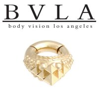 "BVLA ""Osiris"" 14kt Gold Septum Hinge Ring 8g Body Vision Los Angeles"