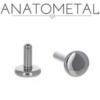 "Anatometal Threadless Titanium Universal Flatback Disk Labret Post Stud Lip Ring 16 Gauge 14 Gauge 16g 14g (Accepts Only 18 gauge ends) ""Press-fit"""