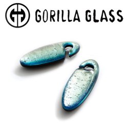 Gorilla Glass Fused Dichroic Cocoons 1oz Ear Weights 10mm (000g) And Up (Pair)