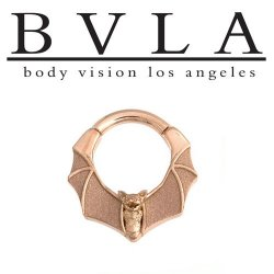 "BVLA 14kt Gold ""Lilith"" Nose Nostril Septum Ring 12 Gauge 12g Body Vision Los Angeles"