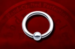 "Body Circle Surgical Stainless Steel Captive Bead Ball Closure 1/2"" Ring 10 Gauge 10g Sale!"
