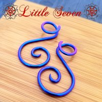 "Little Seven Niobium Small ""Ansari\"" Spirals 12 Gauge 12g (Pair)"