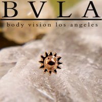 BVLA 14kt 18kt Yellow White Rose Gold 5mm Sun Threaded End 18g 16g 14g 12g Body Vision Los Angeles