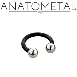 Anatometal Niobium Circular Barbell With Steel Ball Ends 12 Gauge 12g