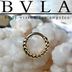 "BVLA 14kt Gold ""Desiree"" Daith Nostril Septum Ring 16 Gauge 16g Body Vision Los Angeles"