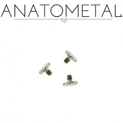 Anatometal Surgical Steel Threaded Disk Flat Back End 10 Gauge 10g