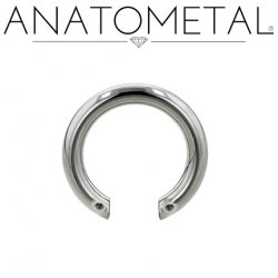 Anatometal Titanium Front-set Circular Barbell (Shaft Only, No Ends) 12 Gauge 10 Gauge 8 Gauge 12g 10g 8g