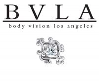BVLA 14kt Gold Paloma Swirl Diamond Center Threaded End 18g 16g 14g 12g Body Vision Los Angeles
