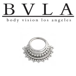 "BVLA 14kt Gold ""Maika"" Septum Clicker Nose Ring 16 Gauge 16g Body Vision Los Angeles"