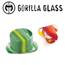 Gorilla Glass Linear Labrets 0 Gauge to 1""