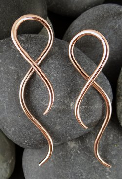 Little Seven Copper Twist Hanging Design Shakti 12g 10g 8g 6g 4g 2g (Pair)