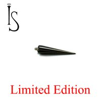 "IS Limited Edition Black Titanium Threaded Spike 1/2"" 14 Gauge 14g"
