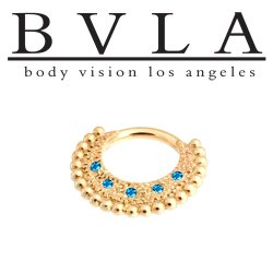"BVLA 14kt Gold ""Inara"" Septum Clicker Ring 14 Gauge 14g Body Vision Los Angeles"