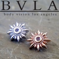 "BVLA 14Kt Gold ""Compass\"" Threaded End Dermal Top 18g 16g 14g 12g Body Vision Los Angeles"