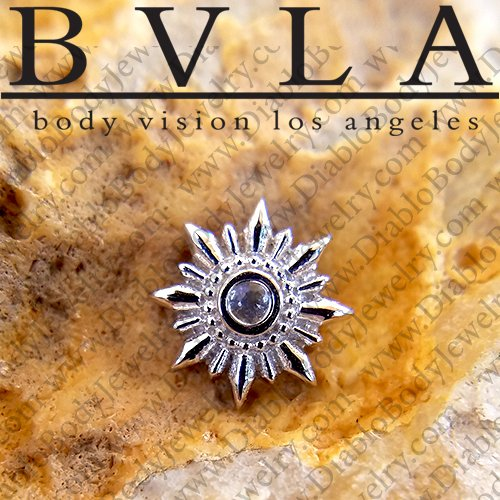 "BVLA 14Kt Gold ""Compass"" Threadless End 18g 16g 14g ""Press-fit"" - Click Image to Close"