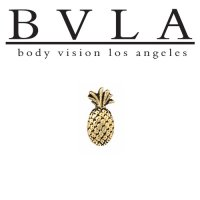 "BVLA 14kt Gold ""Pineapple\"" Threadless End 18g 16g 14g \""Press-fit\"""