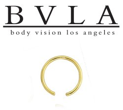 BVLA 14kt Gold Ring Only 12 Gauge 12g Body Vision Los Angeles