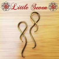"Little Seven Niobium Small ""Shakti\"" Hanging Twists 12 Gauge 12g (Pair)"