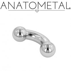 Anatometal Surgical Steel Curved Barbell 4 Gauge 4g