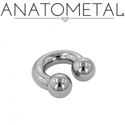 Anatometal Stainless Surgical Steel Circular Barbell 0 Gauge 0g