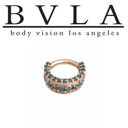 BVLA Tiara 14kt Gold Septum Ring 16g Body Vision Los Angeles