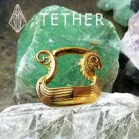 "Tether Jewelry Stainless Steel ""Drake"" Clicker Ear Weight 8 Gauge 8g"