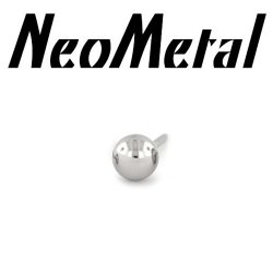 "18 Gauge 18g NeoMetal Threadless Titanium Ball 3/32"" ""Press-fit"""