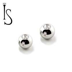 Industrial Strength Surgical Stainless Steel Replacement Captive Bead 6 Gauge 6g