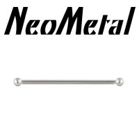 "18 Gauge 18g NeoMetal Threadless Titanium Ear Rod Industrial Barbell 3/32"" Ball ""Press-fit"""