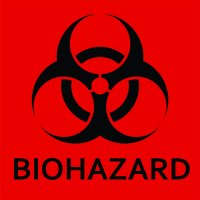 "Biohazard Sticker 4"" X 4"""