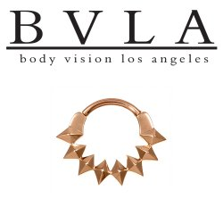 "BVLA 14kt Gold ""Fasske"" Septum Clicker Nose Ring 16 Gauge 16g Body Vision Los Angeles"