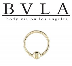 BVLA 14kt Gold Captive Bead Rings 12 Gauge 12g Body Vision Los Angeles