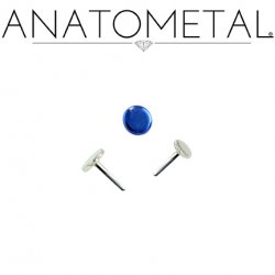 "Anatometal Titanium Threadless Disk End 18 Gauge 18g ""Press-fit"""
