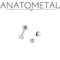 Anatometal Stainless Surgical Steel Internally Threaded Heart 18g 16g