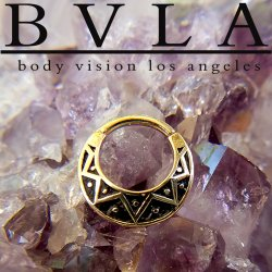 "BVLA 14kt Gold ""Anastazi"" Septum Clicker Ring 14 Gauge 14g Body Vision Los Angeles"
