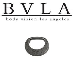 BVLA Dark Age Quarencia Black Gold Septum Clicker 16g 14g Body Vision Los Angeles