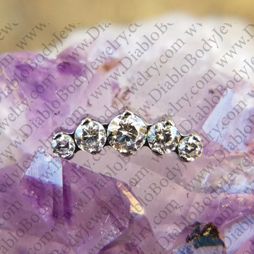 IS Titanium Odyssey Prium Prong set Faceted Gem Threaded End 18g 16g 14g 12g - Click Image to Close