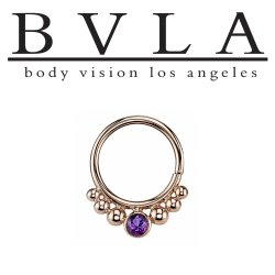 "BVLA 14kt Gold ""Dione"" Nose Nostril Septum Daith Seam Ring 16 Gauge 16g Body Vision Los Angeles"