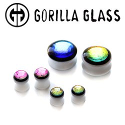 "Gorilla Glass Run The Jewels Ear Plugs 0 Gauge to 1"" (Pair)"