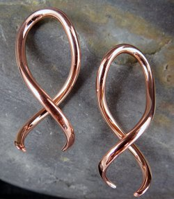 Little Seven Copper Spiral Twist Squid 12g 10g 8g 6g (Pair)