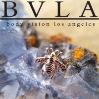 "BVLA 14Kt Gold ""Bumblebee\"" Threadless End 18g 16g 14g Body Vision Los Angeles \""Press-fit\"""