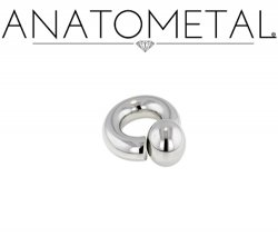 Anatometal Surgical Stainless Steel Screw on Ball Ring 8g 8 Gauge