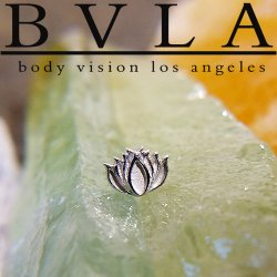 "BVLA 14Kt Gold ""Lotus"" Threadless End 18g 16g 14g ""Press-fit"""