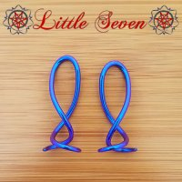 "Little Seven Niobium ""Cthulhu\"" Spiral Twist 12 Gauge 12g (Pair)"